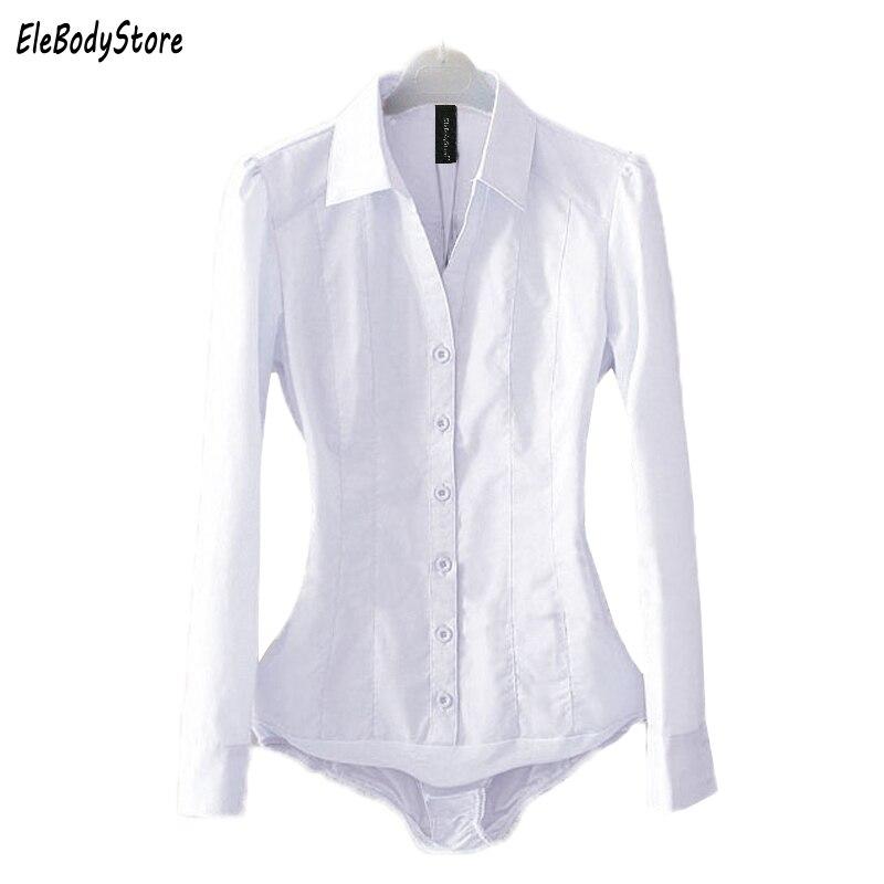 Plus Size Body   Blouse     Shirt   2019 Blusas Women Bodysuit   Blouses   Tops Casual White Blue Long Sleeve Ladies Office   Shirts   Clothing
