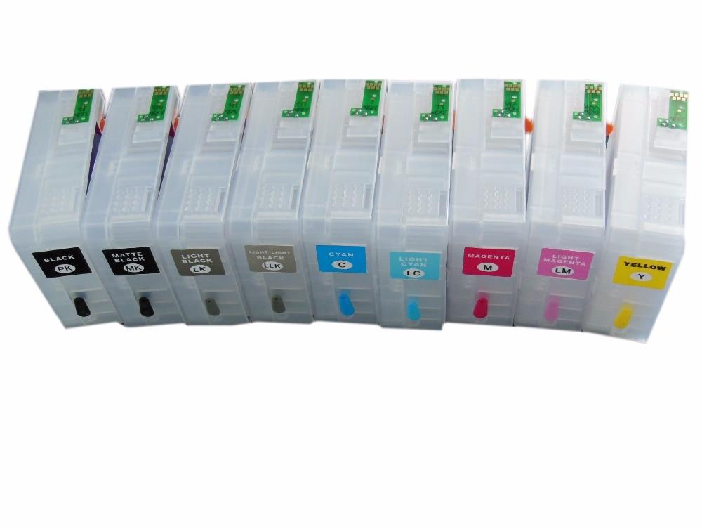 T5801 T5802 T5803 T5804 T5805 T5806 T5807 T5808 T5809 For Epson Stylus Pro 3800 3880 Refillable Ink Cartridge hfbr 5803