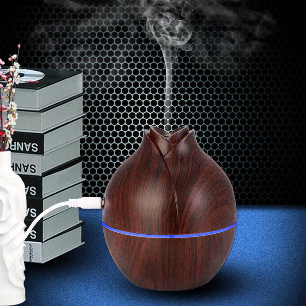 Unique Flower Bud Shape Humidifier Electric Aroma Essential Oil Diffuser With Multi Colors Changing LED Light Ultrasonic Fine Mist Maker