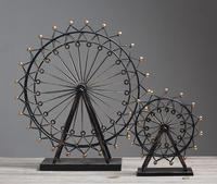 American Style Home Living Room Reversionary Iron Art Ferris Wheel Model Decoration Creative Desktop Furnishing Articles ZH120