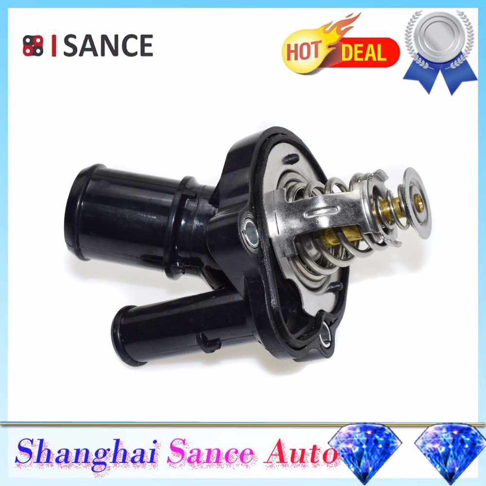 US $15 99 20% OFF|ISANCE Coolant Thermostat Housing L336 15 170 L32715171  For Ford Escape Fusion Focus Ranger Mazda 3 5 6 CX 7 Tribute 2003 2012 on
