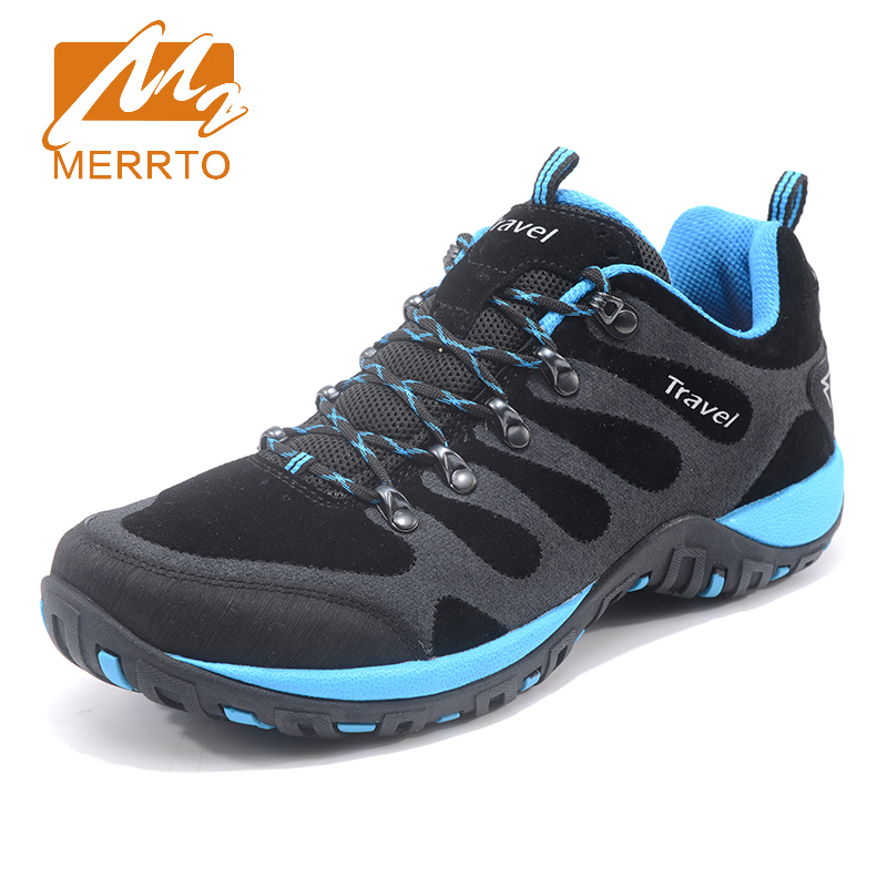 2018 Merrto Mens Outdoor Walking Shoes Breathable Climbing Sports Shoes Non-slip Travel Shoes For Men Free Shipping MT18686 xinda rock climbing handle control non confusion abseiling device stop descender outdoor rappelling rescue for 10 13mm rope