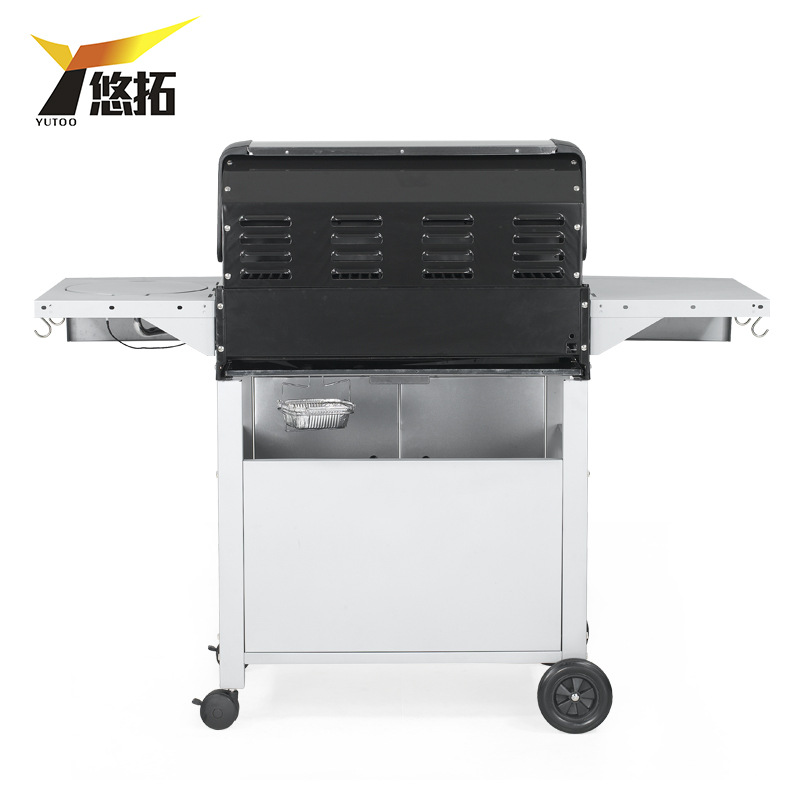 Outdoor gas stove,GaiaBBQ-B172, 1 pcs, Multi-function courtyard home BBQ grill four exports,4 stoves
