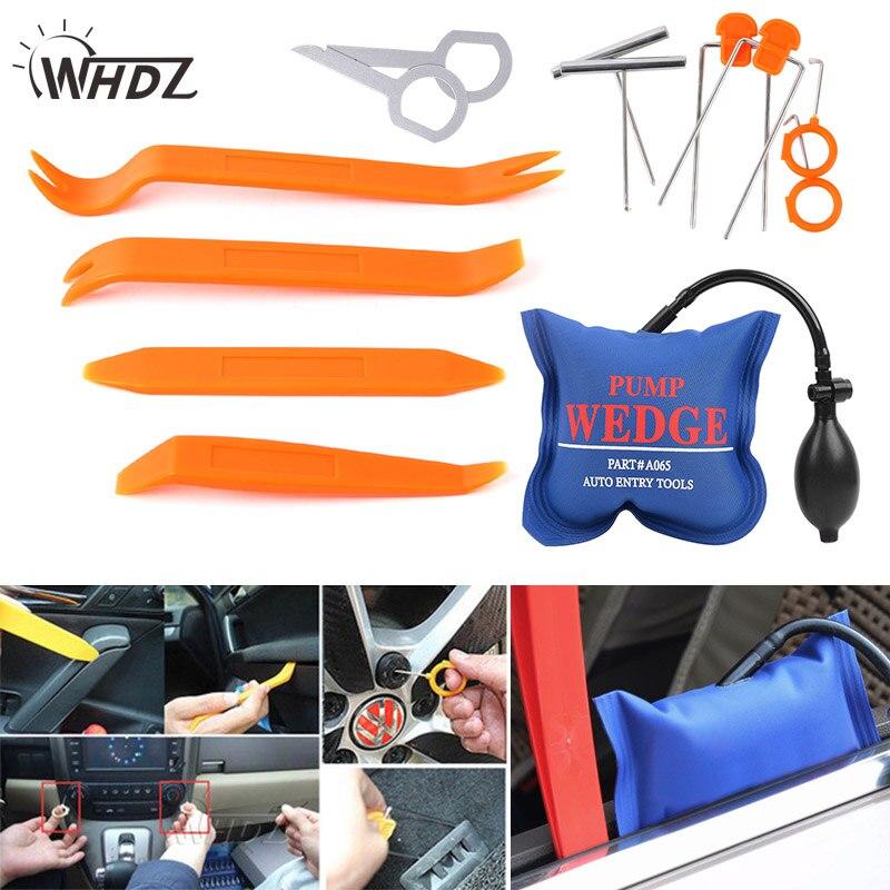 WHDZ 13 pc PDR Pompe Wedge Universal Ouvrir Pry Outils Kit Airbag de Suppression de panneau Dash Porte Radio Auto Trim Radio Élimination main Outils