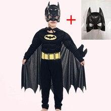 2019 Kids Vampire Muscle Batman Green Giant Costume and Mask Boy Super Hero Cosplay Halloween Masquerade Superman