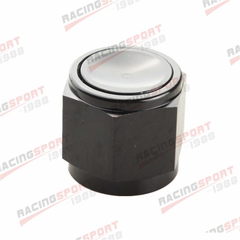 10AN-10 AN10-10AN flare tapa tapas bloque de montaje de aluminio negro