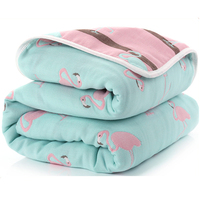 Baby Blanket 110CM Muslin Cotton Two Layers Thick Newborn Swaddling Autumn Baby Swaddle Bedding Grey Starts