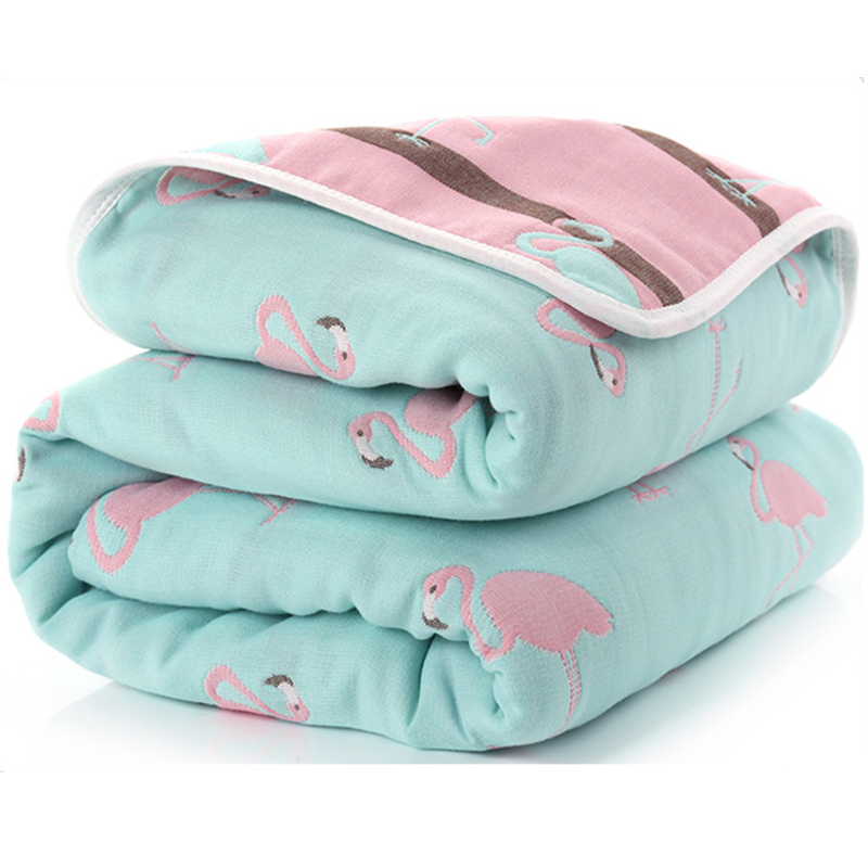 Baby Blanket 115 CM  Muslin Cotton Four Layers Thick Newborn Swaddling Autumn Baby Swaddle Bedding Grey Starts Receiving blanket new baby swaddles knit baby blanket newborn swaddle wrap super soft baby nap receiving blanket animal manta cobertor bebe