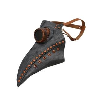 Image 3 - Hot Steampunk accessories Plague bird doctor latex mask Punk middeleeuws cosplay masks halloween costume for women men Adult