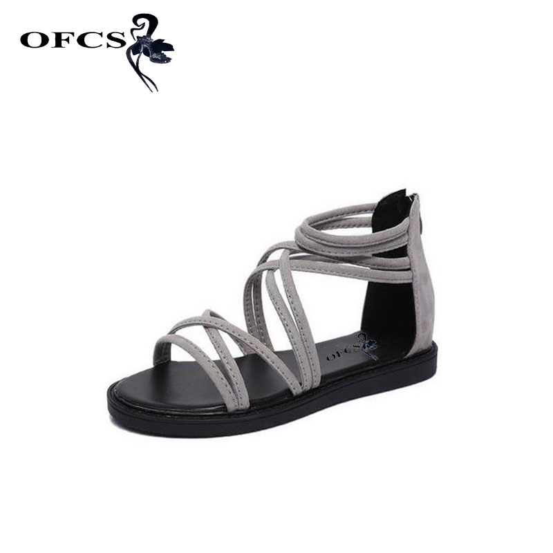 2017 New Fashion Women Sandals Rome Style Fish Mouth Cross ...