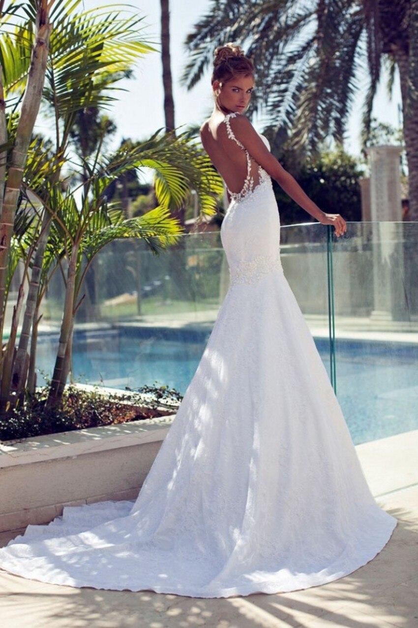 backless mermaid wedding dress Hollow Lace Long Sleeve Wedding Dresses Backless Berta Winter Sweetheart Pearls Beading Mermaid Wedding Bridal Dresses