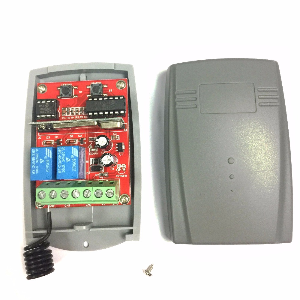 Rolling Code-Receiver Garage-Door Universal 433MHZ 2-Channel Wireless DC12V/24V title=