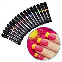 16 Colors Nail Art Painting Pens Set Professional Salon Home DIY Manicure UV Gel Polish 3D Nail Tips Design Drawing Painting Pen