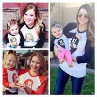 2016 Valentine T Shirt Summer Spring Casual Mum And Kids T Shirt Best Friends Letter Print  O-Neck Cotton T-Shirt Ready