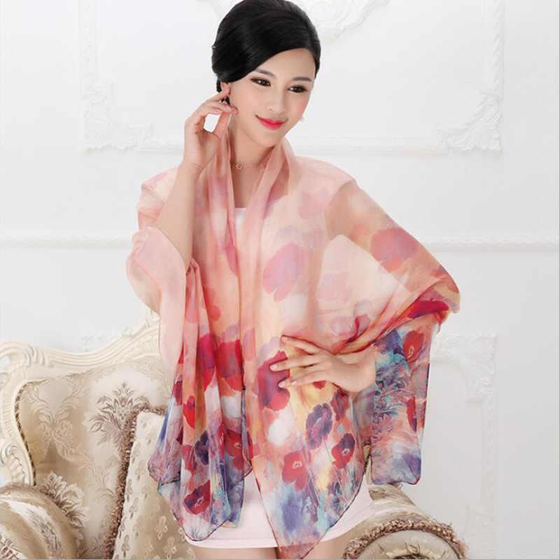 2018 di Alta qualità 100% sciarpa di seta di gelso naturale di seta reale Delle Donne Lunghe sciarpe Scialle Femminile hijab dell'involucro Della Spiaggia di Estate -ups