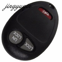 jingyuqin 3 Buttons No Chip Blank Remote 2 + 1 Panic Key Shell Case Cover For Buick Hummer H3 GMC For Chevrolet Colorado Isuzu