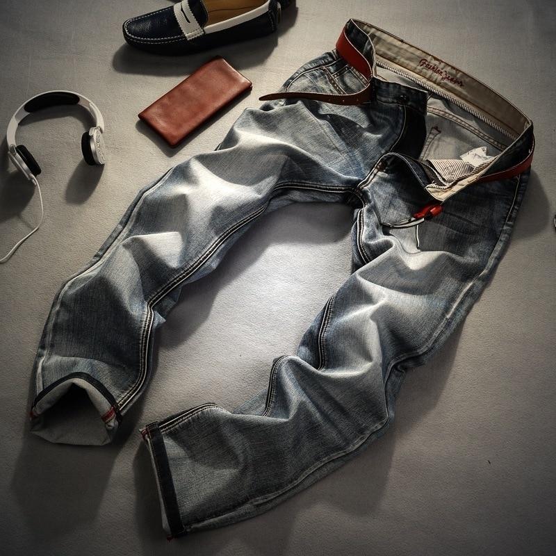 Men Brand Jeans Retro Nostalgia Straight Denim Jeans Men Plus Size 28-38 Casual Men Long Pants Trousers Brand Biker Jean autumn fashion men s jeans retro nostalgia straight denim jeans men plus size 38 casual men long pants trousers brand biker jean