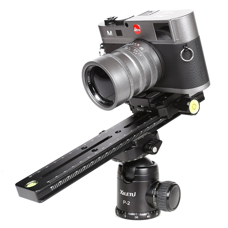 Image 4 - XILETU LCB 24B Track Dolly Slider Focusing Focus Rail Slider & Clamp and QR Plate Meet Arca Swiss For DSLR Camera Canon-in Tripod Heads from Consumer Electronics