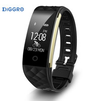 IP67 Waterproof Diggro S2 Smart Heart Rate Bracelet Sports Fitness Tracker Sleep Call Notification Android IOS