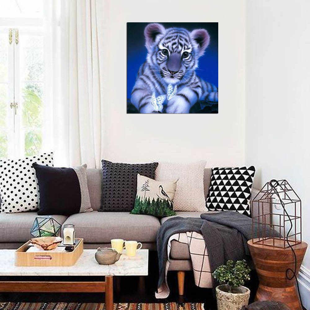 2019 белый тигр 5D DIY картина со стразами вышивка полный квадратный алмаз домашний Декор подарок алмазная живопись полный квадрат