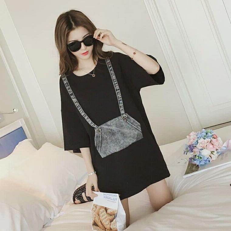 women cotton t shirt o neck 2018 high quality short sleeve t-shirts black white colors fashion style shirts