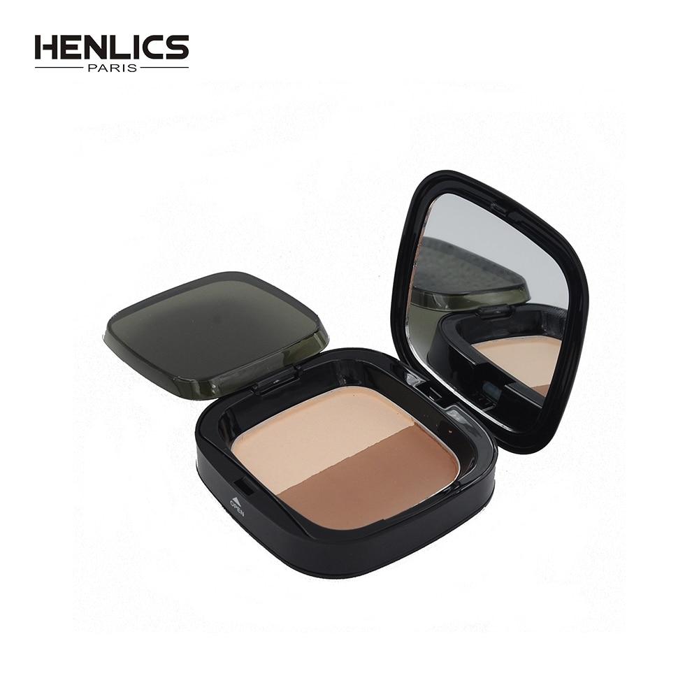 HENLICS Hot Face Makeup Brand Cosmetics 3D V shaper PF-Cover Pressed Powder Facial Powder Foundation Whitening Concealer Make Up