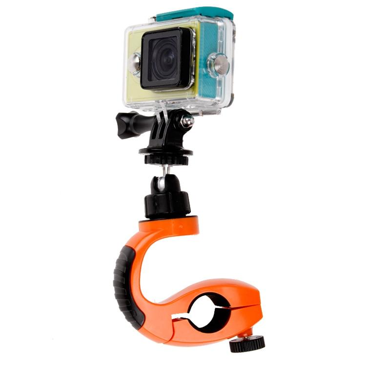 Accesorios Gopro Xiaomi Gopro ואביזרים אופני אופניים הכידון חיבור מצלמה+360 מעלות בסיס שטוח הר עבור Hero4 3+ 3 Sj4000