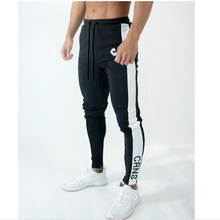 BIAOLUN 2019 mens sport pants spring/summer striped cotton casual with small feet
