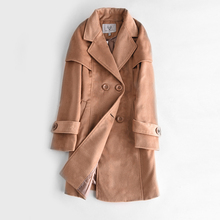2017 New Long Jackets Women 4 Colors Wool Coat High Quality Plus Size Poncho Fashion Women's Cashmere Coat with Double Breasted