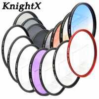 KnightX UV uv Camera lens filter for Sony Canon Nikon Pentax OLYMPUS 1100d 600d t6 a57 t1i d3100 accessories a390 eos 55 58 67