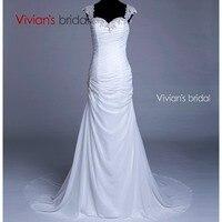 Vivians Bridal Appliques Mermaid Lace Wedding Dress Organza Floor Length Vestido De Noiva