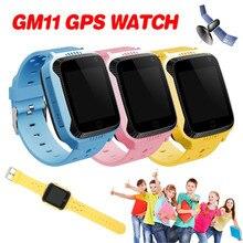 Новые GM11 GPS Смарт-часы детские часы Поддержка sim-карты SOS средства отслеживания вызовов анти-потерянный будильник для детские умные часы
