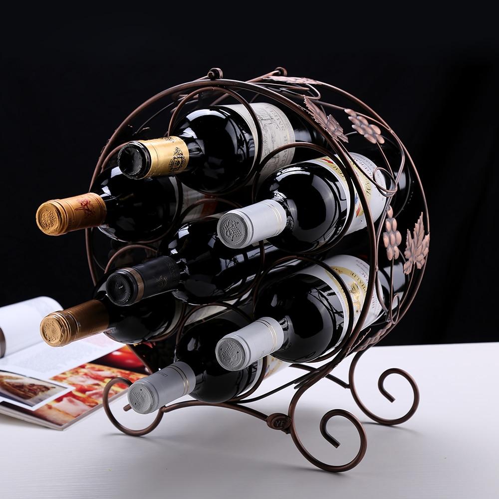 Nouveau 6-bouteille en bois vin maison//cuisine//bar display stand rack