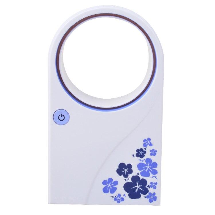 Portable USB No Leaf Fan Mini Bladeless Refrigeration Desktop Air Conditioner