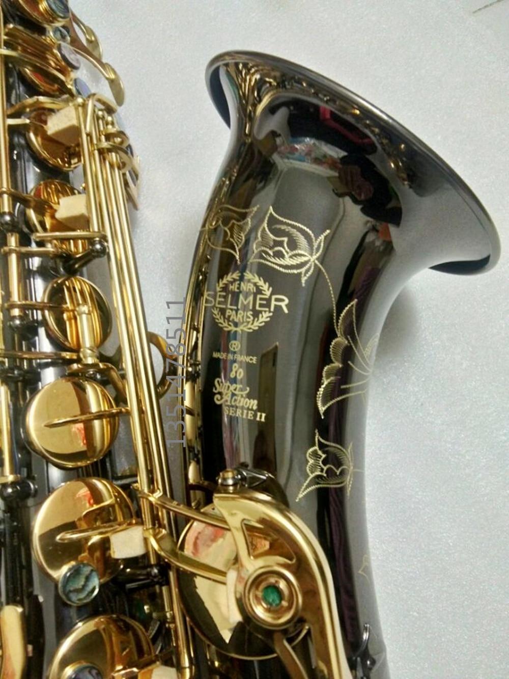 tenor saxophone instrumentnew SELMER 802 B tenor Sax instruments / wind / tube black nickel gold key saxophone e5cc rx2asm 802