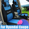 Custom car seat cover for hyundai coupe seat covers sets inner car accessories sandwich seat cushions set car styling with logo