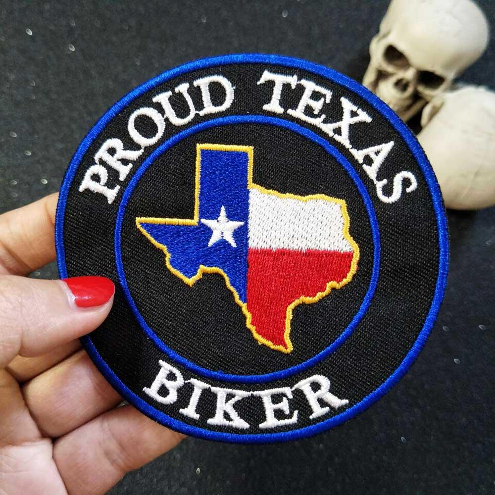 STOLT Texas Iron On Patch Broderad Applique Söm etikett Punk Biker Patches Kläder Klistermärken Kläder Accessoarer Badge