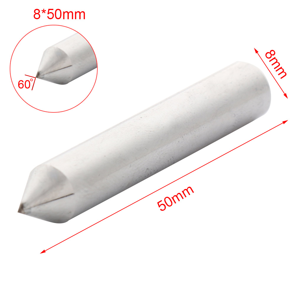 8x50mm Steel Grinding Wheel Correction Pen 10mmx45mm Grinding Disc Wheel Natural Diamond Dresser Dressing Pen Tool Silver