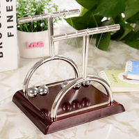 New Design T Newtons Cradle Metal Balance Pendulum Ball Physics Science Desk Model Toy Educational Teaching Accessory Gift 3Size