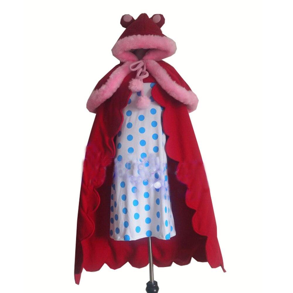 2017 une pièce sucre Cosplay Costume personnalisé n'importe quelle taille cape avec robe