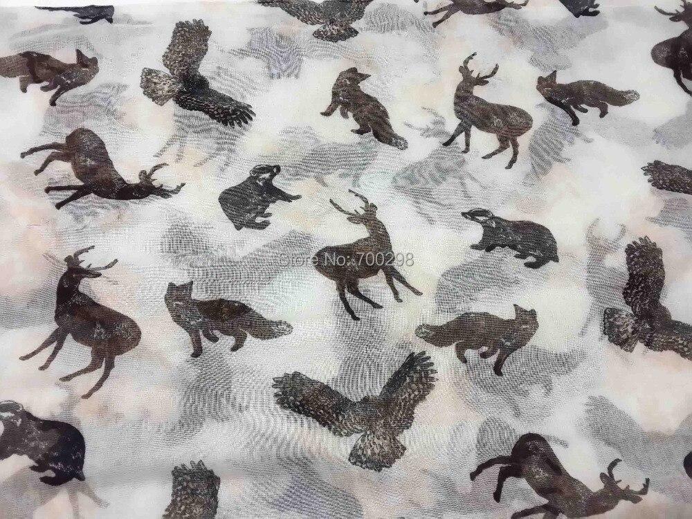 Дикий животные лиса медведь Орел Олень Печать Петля Женская Бесконечность шарф леди подарок аксессуары