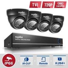 SANNCE 4CH HD 1080N 4IN1 камеры системы безопасности DVR 4 шт. 720 P Камеры ВИДЕОНАБЛЮДЕНИЯ P2P Открытый Водонепроницаемый Видеонаблюдение комплект hd 1 ТБ