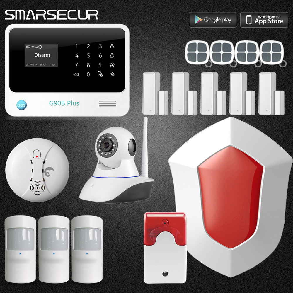 Wireless  GSM & wifi Home House Security Burglar Intruder Alarm System with Auto Dialer 3G Panel For option kerui new 900 1800 1900mhz wireless gsm pstn burglar security alarm system for home house garden store shop office