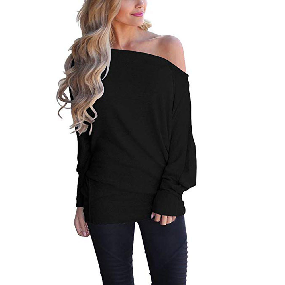 Women's Clothing Ishowtienda Women Blouses Summer 2018 Casual Solid Bandages Off Shoulder Full Sleeve Tops Blouse Ladies Blouses Koszula Damska Harmonious Colors