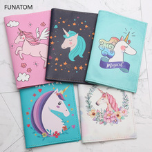 New Style Unicorn Passport Cover PU Leather Unisex Credit Card Holder Fashion Animal Prints holder