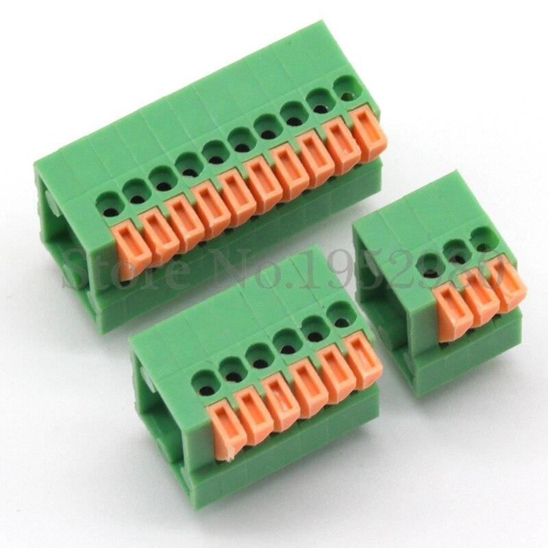 50PCS 2.54MM PITCH SPRING TERMINAL BLOCKS CONNECTOR 1/2/3/4/5/10-20P KF141V STRAIGHT PIN GREEN Environmental Protection 1788208[pluggable terminal blocks umstbvk 2 5 11 5 0] mr li