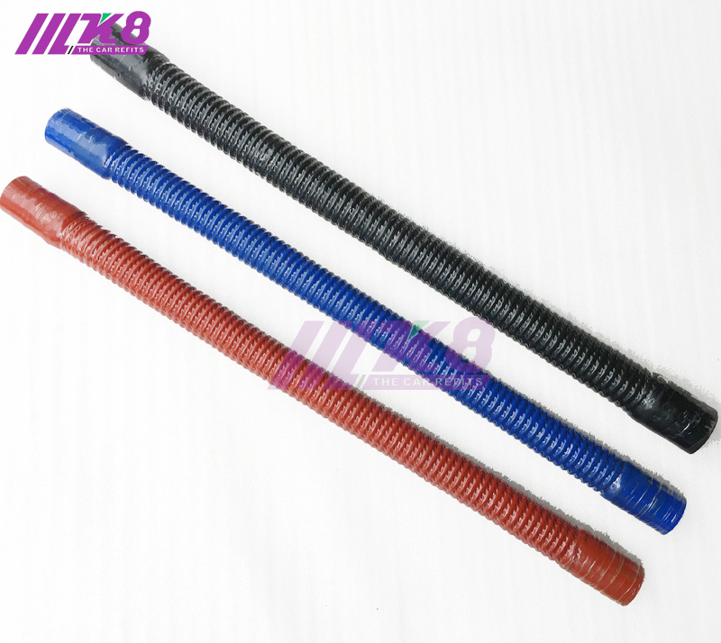 8mm ID Black 2 Metre Length Fuel and Oil Resistant Rubber Hose AutoSilicone.