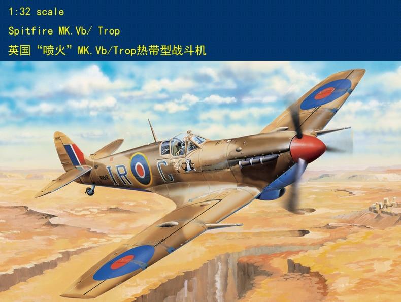 Hobbyboss 83206 1/32 Supermarine Spitfire Mk.Vb rop