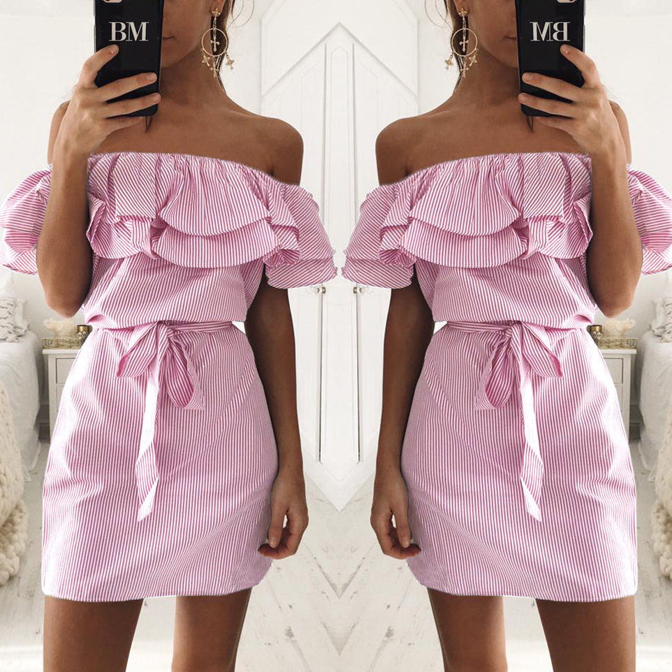 3-colour-2017-Summer-Fashion-Women-s-New-Striped-Dresses-Sexy-Ruffle-Dress-Casual-Style-Comfortable