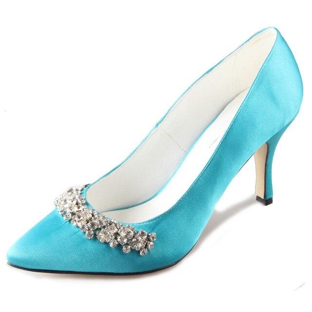 Aliexpress.com : Buy Handmade turquoise aqua blue pointed toe ...